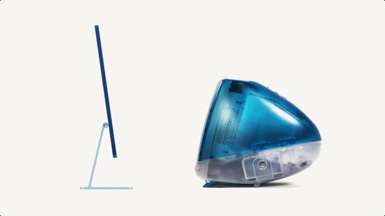 ▲ iMac 2021 与 iMac G3。