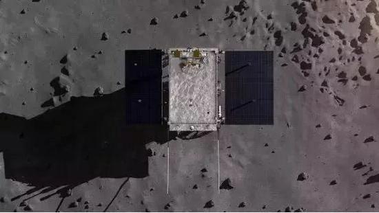 图片表明:嫦娥四号着陆 暗示图