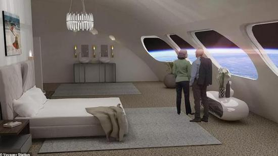 """图片说明:""""太空酒店""""内部概念图"""