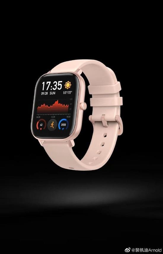 华米新品手表渲染图(图片来源微博)