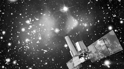 eROSITA X射线望远镜(小图)及其在太空中工作的艺术效果图 图片均来自网络