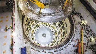 7月28日,国际热核聚变实验堆(ITER)计划重大工程安装正式启动。图为安装现场。ITER官网供图
