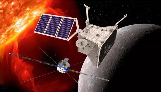 贝比科隆博号水星探测器伪想图。来源:ESA