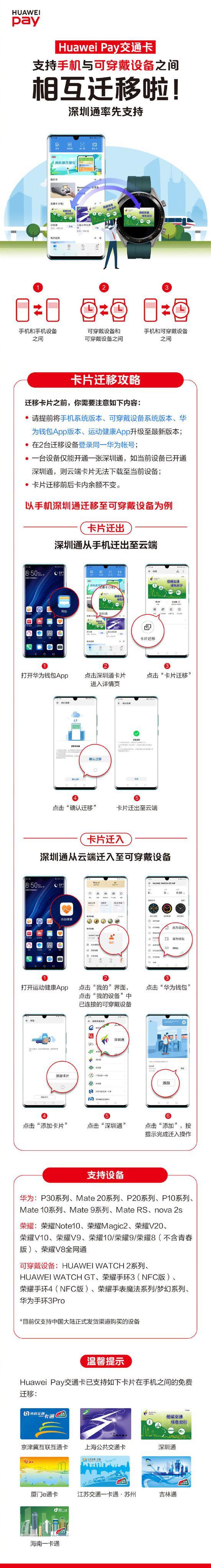 Huawei Pay交通卡迁移