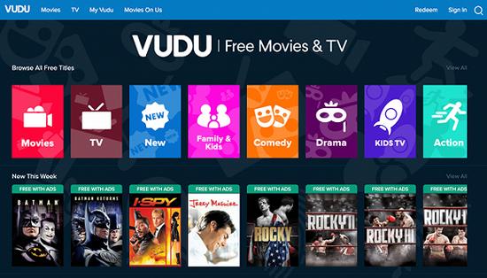 沃尔玛现有线上平台Vudu