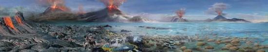 早期地球环境(图片来源:南京古生物所)