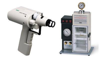 美国Bio-rad公司生产的手持基因枪(左)与台式基因枪(右)。图源:www.bio-rad.com。