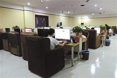 河南郏县千机数据的办公室,如同一个大网吧。