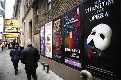 今年3月,百老汇剧现在面临停演前,会权衡是否能申请保险公司理赔。图/视觉中国