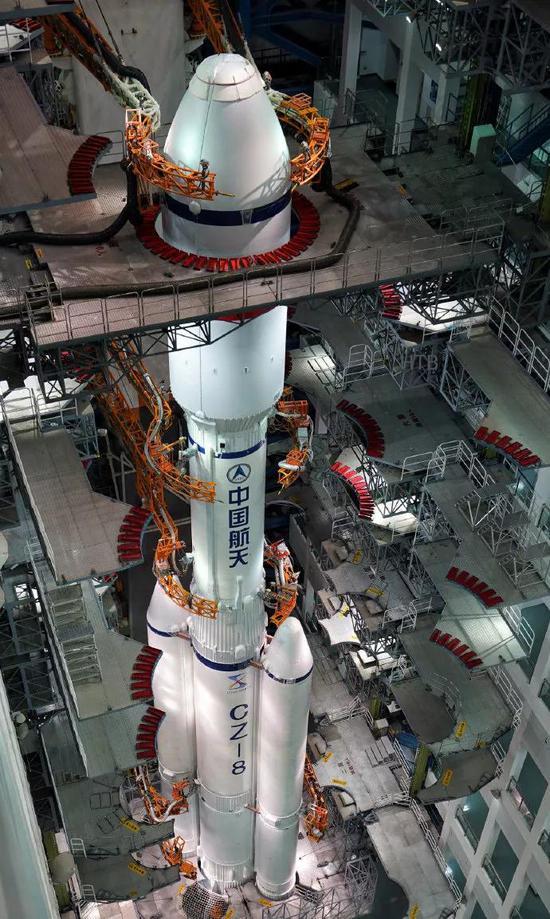 首飞前的长征八号图片来源:航天科技集团