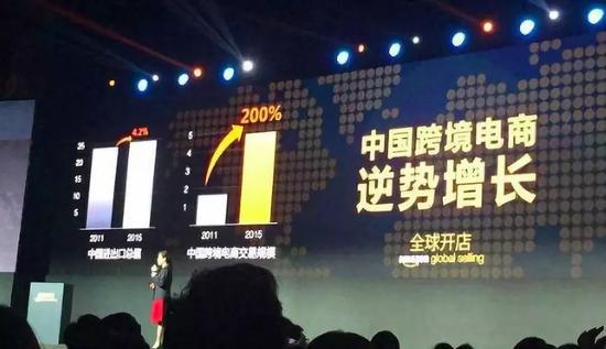 2015年的一场活动上,亚马逊在中国推介全球开店业务