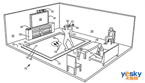 微软VR设备防撞新专利曝光,使得用户更加安全