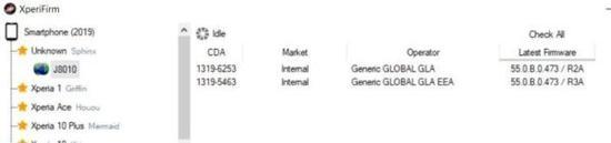 索尼Xperia新机固件曝光,或为Xperia 1 5G/低配版