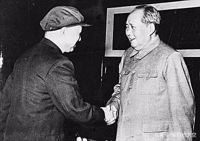 毛泽东主席接见钱学森