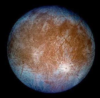 """木卫二""""欧罗巴""""照片(来源:NASA)"""