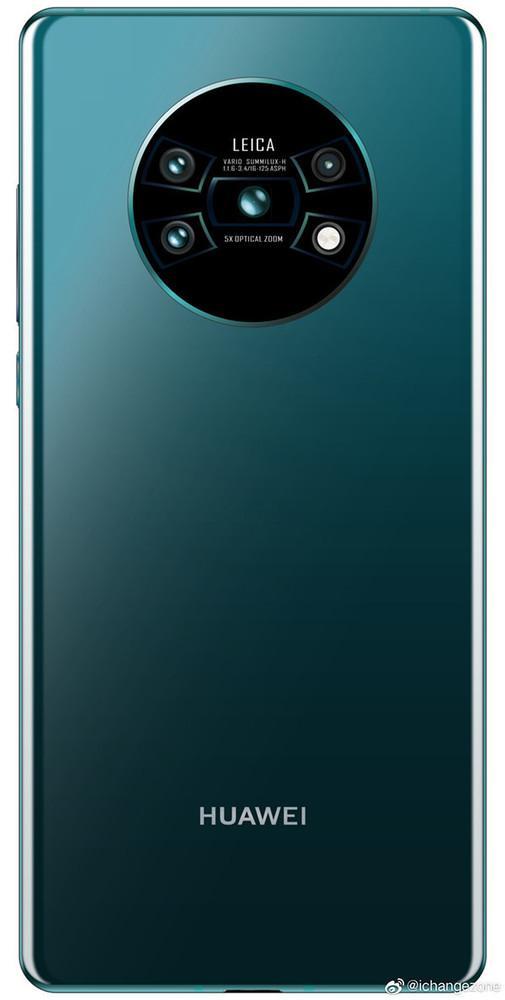 网络上曝光的圆形相机模组的华为Mate 30 Pro(图源网络)