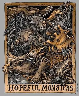 Hopeful Monsters 画图:Ray Troll,图片来源:www.maryanningsrevenge.com
