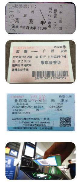 圖10:一張火車票的變遷,從紙質到無紙化