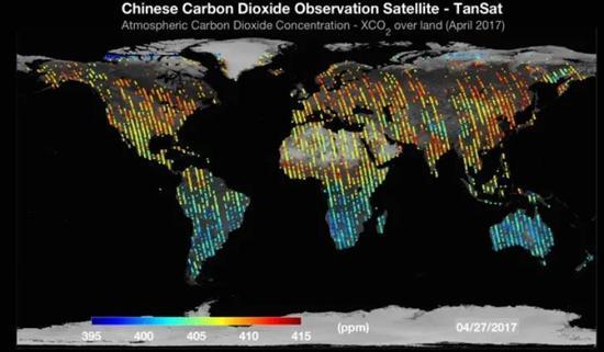 我国碳卫星TanSat的二氧化碳观测数据
