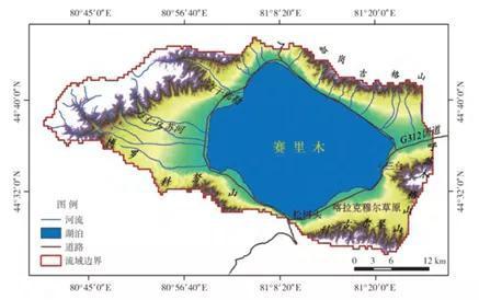 赛里木湖区位示意图 (图片来源:中科院地质地球所)