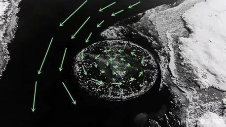 旋转冰盘形成示意图 (图片来源:北京科学中心)