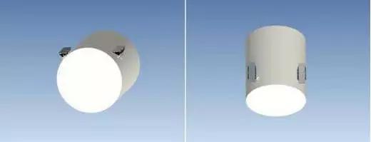天宫二号高度计天线、大功率固态功率放大器及天线安装位置示意图