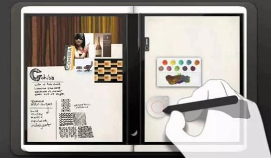 ▲微软早期双屏设备设计图