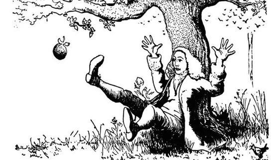 牛顿和苹果的故事( 来源:谷歌图片)