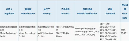 魅族新机获3C认证 支持24W有线快充