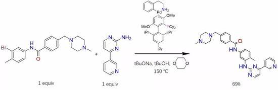 简单个屁……这踏马是一个布赫瓦尔德-哈特维希交叉偶联反应,是一个醇钠碱性环境中钯催化下的胺与芳卤交叉偶联生成C-N键从而构建胺的N-芳基化反应