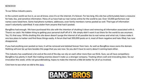 Bang Bros的声明