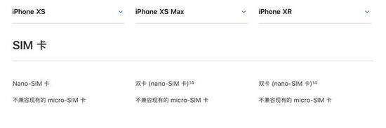 iPhone Xs并不支持双卡