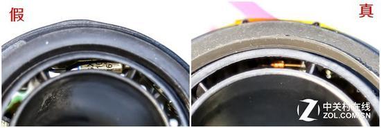 假货采用普通保险丝设计正品采用玻璃热敏电阻
