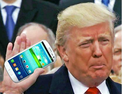 特朗普曾经是三星手机的用户,当选总统后才换苹果手机。