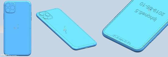 疑似iPhone XI Max CAD渲染图