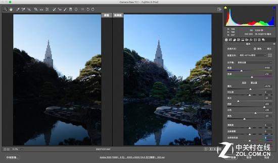 宽容度的价值在后期处理照片时会体现出来