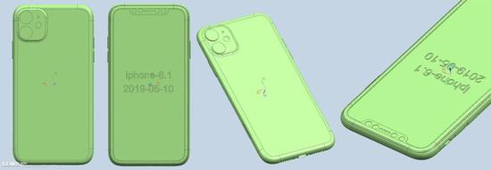疑似iPhone XIR CAD渲染图