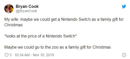 今年圣诞不送礼,买高价 Switch 不如举家去动物园
