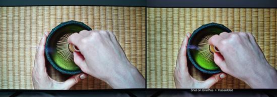 ▲左为全画幅相机使用 24mm 镜头拍摄,右为一加 9 Pro 拍摄