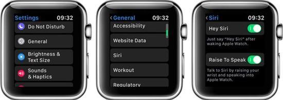 设置抬腕唤醒Siri的步骤(图片来自官网)