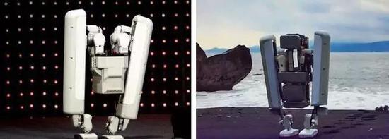 (左:Schaft两足机器人;右:电影《星际穿越》剧照)
