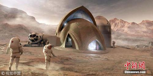 NASA举办的火星住宅设计比赛的入围作品图。图片来源:视觉中国。