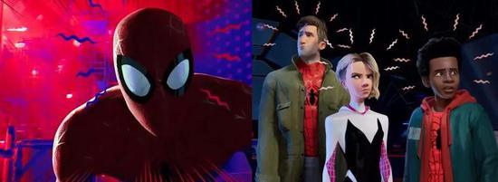 ▲ 《The Witness》(上)与《蜘蛛侠:平行宇宙》(下)风格比较