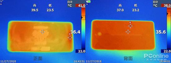 红魔Mars电竞手机温度图