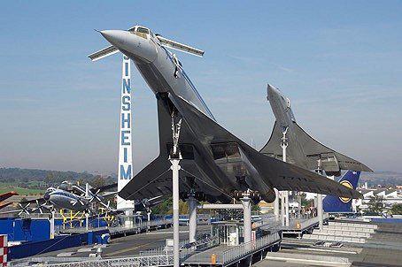 (辛根海姆科技博物館內的兩架超音速客機 圖源:flugrevue)