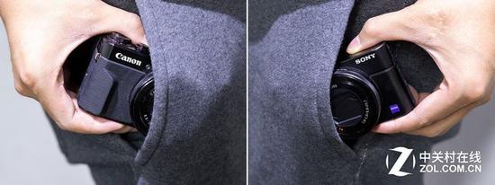 小巧的体积加上伸缩式镜头设计,可以直接放进口袋