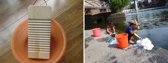 波轮与滚筒的洗涤方式有点类似于搓衣板与木棒起到的效果
