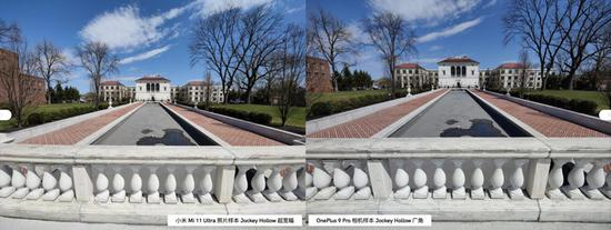 ▲ 左为小米 11 Ultra,右为一加 9 Pro。 图片来自:androidauthority