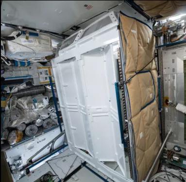 厕所的幼隔间。图片来源:NASA