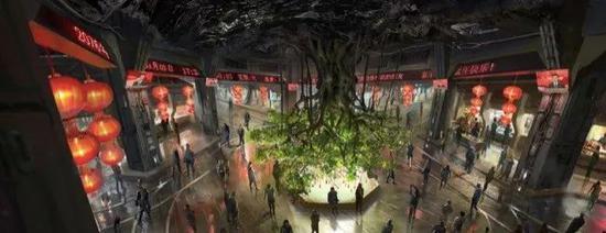 图为中国特色地下城的概念图